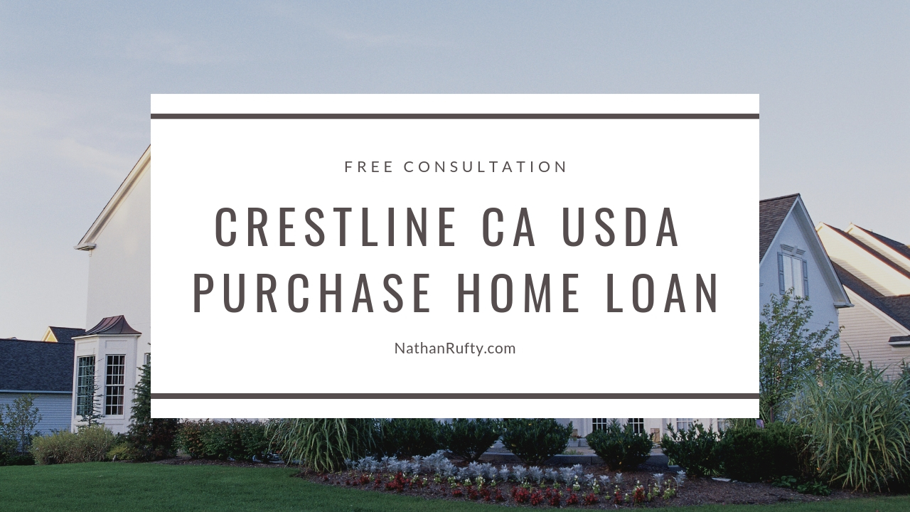 Crestline CA USDA purchase home loan
